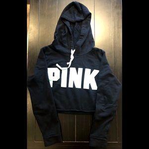 Victoria's Secret Pink Cropped Hoodie